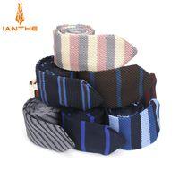Neck Ties Fashion Slim Tie Wedding KniNecktie For Men Skinny Knit Man Gravata Colorful Striped Narrow Knitted Neckties