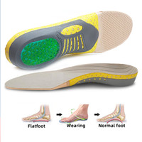 Insoles ortopédicos Orthotics FLAT Health Health Gel Sole Pad para sapatos Insert Arch Support Pad para Plantar Fasciite Pés Insoles Care