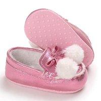 Inverno delle ragazze dei neonati scarpe in pelle di Natale del bambino Mocassini peluche antisdrucciolevoli Infant bambino calza Prewalker primi camminatori