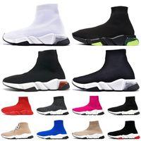 Clearsole جورب المدربين جورب أحذية النساء رجالي عارضة الأحذية ثلاثي الاكليل خمر كتابات الدانتيل يصل جورب الأحذية رياضية مصمم فاخر