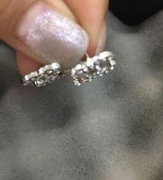 럭셔리 귀걸이 모조 다이아몬드 편지 매력 펜던트 귀걸이 스터드 여성 레이디 디자이너 쥬얼리 선물