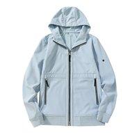 21FW Jacken wasserdichtes Gewebe der Soft-Shell-Jacke mit Plüsch im Herbst- und Wintermode-Windebrecher-Mantel