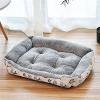 WHPC grueso y suave felpa corta de terciopelo perro Cama lavable Caseta de Perro Caliente Sueño Profundo casa de la estera del sofá por un grande cesta Sillón
