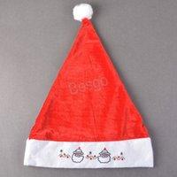 Ricamato cartone animato pupazzo di neve cappello natale natale natale cappelli Babbo Natale Babbo Natale costume natalizio decorazione natalizia cappelli natalizia cappello natale BH2729 TQQ