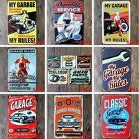 عرف معدن القصدير علامات سنكلير موتور أويل تكساكو شريط ملصق ديكور المنزل جدار الفن صور خمر كراج تسجيل 20X30cm HHA288