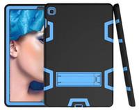 Antiurto Custodia Defender migliore armatura di caso per iPad 234 iPad Air 5 6 iPad Pro 9,7 Samung T510 T290 caso del protettore colorato con l'autoadesivo