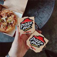 كوخ 3D الغذاء الأمريكية البيتزا قضية الرسوم سماعة الأذن السيليكون لينة لشركة آبل airpods غطاء 1/2 سماعة لاسلكية لairpods الموالية