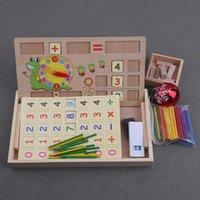 Niños de juguete de madera de Educación Inicial digital multifunción de aprendizaje aritmético de carpetas de aprendizaje de las matemáticas didáctico