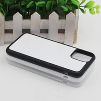 2D Sublimation Silicon Case For Iphone 12 11 pro max  X  8  8Plus  7 6S 6 Plus TPU+PC Rubber soft Blank Heat transfer Phone Cover