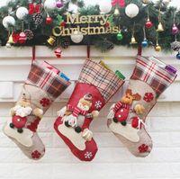 الأسهم الأمريكية 2020 معلق كارتون عيد الميلاد الجوارب Loveag دمية نماذج اللوازم كارتون سانتا كلوز ثلج كبيرة الجورب Partyly حقيبة هدية السنة الجديدة