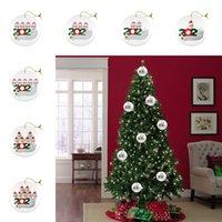 Yüz ile 1 2 3 4 5 6 7 Seramik Noel Süs kolye faimly Yuvarlak DIY Adı Santa Noel Dekorasyon Deniz Kargo DDA559 Maske