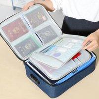 السفر في الهواء الطلق سعة كبيرة حقائب شهادة التخزين البوليستر متعدد الطبقات رخصة قيادة جواز السفر ملف التعبئة أكياس التخزين الرئيسية HA1260