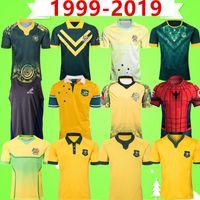 Retro 1999 2021 Avustralya Rugby Ligi JERSEY Dünya Kupası Deplasman oyun kortu özel sürüm Vintage hatıra Sürümü Yediler tişört yelek