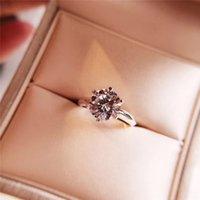Marque anneau T couple anneau de mariage 925silver classique avec des pierres précieuses pour dimensionner No5-9 femme anneaux de luxe