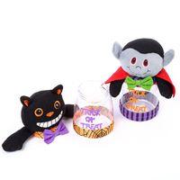 Halloween Bonbons Jar chocolat Snack stockage des cookies Can Boîte de citrouille Sorcière fantôme 449C