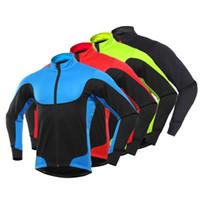 Men Winter Outdoor Sports Thermal Long Sleeve Bike Bicycle Cycling Jacket Coat fleece lining Coat Warm comfortable Sports R
