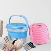 Mini portátil de viaje plegable LAVADORA PP al aire el viaje de camping de la ropa interior de la máquina limpiador 2styles MAR SHIPING RRA3594