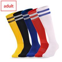 Virson Yetişkin Futbol Çorap ile Çizgili Desen Diz Yüksek Futbol Çorap Kayma Önleyici Uzun Çorap Trusox Açık Çocuk Spor Uzun Havlu Çorap