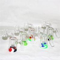 Cookahs Glass ReClaim Catcher Ash Catchers с 5 мл силиконовые контейнеры и 14 мм совместный кварцевый гвоздь Banger для Water Bong Dab