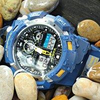 EPOZZ 100 mètres montre de sport étanche s'opposer numérique analogique Synchronize Mens montres bleu relogio masculino marque haut
