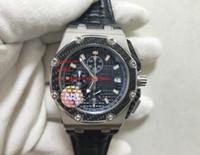 무료 배송 공장 공급 업체 최고 품질의 손목 시계 42mm 쿼츠 크로노 그래프 망 시계 시계 블랙 다이얼 남성 새로운 도착