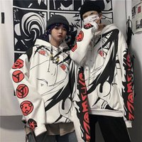 Anime Naruto Hoodies Streetwear Пара Зимнее Пальто Мода Свободный Мультфильм Саске Япония Толстовка толстовки Унисекс Мужские Мужские Женские