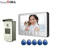 Telefones de porta de vídeo 7 polegadas Apartamento / Family Thone Intercom System RFID Ir-Cut HD 1000TVL Camera Caminhada Campainha Noite Vision à prova d'água