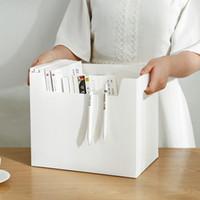 Portable Desktop Simple Storage Boxes Büromultifunktions Briefpapier Aufbewahrungsbehälter-Kasten PP Kunststoff-Hand Storage Box Organizer VT1687
