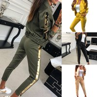 Womens Tracksuit Set Women 2 Piece Outfits Sequins Pullover ...