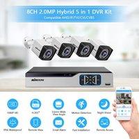 8CH نظام الأمن + 4PCS كاميرا 2MP HD في الهواء الطلق مقاوم للطقس الأمن مراقبة DVR كيت دعم الرؤية الليلية، والحركة تنبيه
