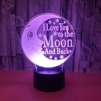 أضواء لعبة ليلة الإبداعية القمر 3D عين مصباح حماية الأطفال الملونة التي تعمل باللمس التحكم عن بعد هدايا عيد الميلاد 3D الصغيرة الجدول مصباح