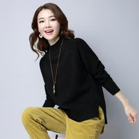Minimaliste Femmes Pull Tricot Hiver chaud doux Pull Maille noir uni Blanc Violet Camel Pull en maille femme Jersey