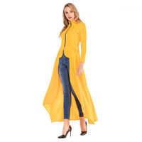 Blazer Jacket Coats Women Designer Long Jackets 19ss Spring New Zipper Slim Fit Irregular Solid