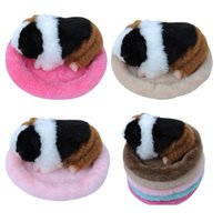 Small Pet Round Soft Fleece Mat Hamster Cages Guinea Pig Win...