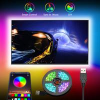 Câble USB DC5V LED Strip Lampe Lumière SMD 5050 TV Fond de l'éclairage de l'éclairage de bureau de bureau de bureau pour écran d'affichage de l'ordinateur TV