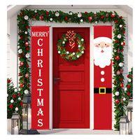 US Navire Joyeux Noël Porche bannière portes suspendues Boule de Noël Décoration pour la maison de Noël Navidad 2020 Bonne année 2021