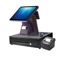 15 polegadas Retail impressora do sistema / 80 milímetros / scanner de código de barras gaveta de dinheiro registo de dinheiro para o salão