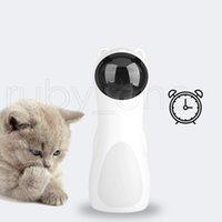 Автоматическая вращающаяся Инфракрасные лазерная Смешные собак Pet Cat Инфракрасная лазерная игрушка Четыре скорость Режим Ротационного лазерное Расстояние Регулируемого Cat Игрушка RRA3587
