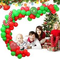 パーティーギフトクリスマスバナーパーティー用品シーンデコレーションレッドグリーンラテックスアルミニウムフィルムクリスマスバルーンサプライ品