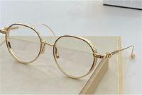 Yeni moda tasarım VAGASOREASS Retro yuvarlak saf titanyum çerçeve şeffaf lens basit moda optik gözlük serisi en kaliteli gözlük