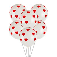 12 인치 사랑 인쇄 풍선 발렌타인 데이 웨딩 장식 고백 풍선 라텍스 풍선 하트 모양의
