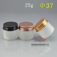 25 / siyah altın kahverengi / alüminyum kapak, 25 ml numune kabı, 25G Krem Kavanozlar / göz kremi kavanoz ile açık buzlu PET Kozmetik Jar gram.