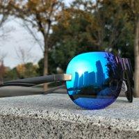 Gafas de deporte BRNAD polarizadas de los hombres mujeres de la marca de lujo DPZ envases de conducción gafas de sol UV400 aleaciones sin rebordes Oculos