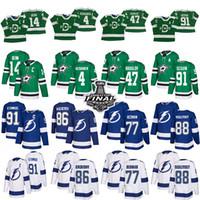 Dallas Stars 91 Seguin 14 Benn 47 Radulov 4 Heiskanen Tampa Bay Lightning 91 Stamkos 86 Kucherov 77 Hedman 88 Maillots de hockey Vasilevskiy
