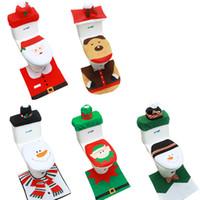 Noel tuvalet kapağı Yaşlı adam Kardan adam tuvalet kapakları halı Radyatör kapağı Kağıt havlu kapağı Klozet Kapağı Noel Dekorasyon Kapaklar