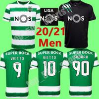 2020 2021 Sporting Clube de Futebol Jersey Lisboa # 90 Sporar Acuna Camisa Mens Home 20 21 # 10 Vietto Raphinha Phellype Futebol Uniforme