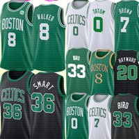 NCAA Marcus 36 intelligente Jersey Kemba Walker 8 Jayson 0 Tatum Jersey dell'università Jaylen 7 Brown Larry 33 Uccello Gordon Hayward 20 di pallacanestro