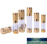 15 30 50 ML Airless garrafa vazia bomba de vácuo para recarregáveis cosmético Creme Loção soro líquido Ouro e Prata