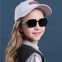 2020 النظارات الشمسية الاطفال ريترو ساحة الاستقطاب الأطفال نظارات بنات بنين TR90 الاطفال النظارات مرنة إطار دائم UV400 Oculos