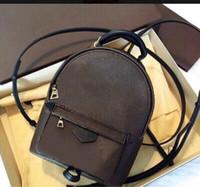 Оптовая продажа бренда дизайнер новых женских пальмовых пружин Мини рюкзак детей рюкзаки женщины печать PU кожи мини школьные сумки 11ap2